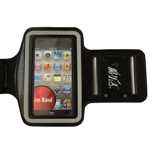 Black New Elastic Sports - Running Armband Cover Case Skin For Iphone 4S ,4 ,4G, 3G, 3Gs,Ipodtouch 3 And 4
