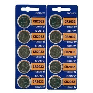 Sony Cr2032 Lithium 3V Batteries (2 X Pack Of 5) front-597494
