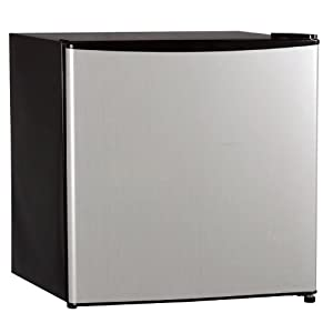 midea WHS-65L Compact Single Reversible Door Refrigerator with Freezer, 1.7 Cubic Feet from Midea America Corperation