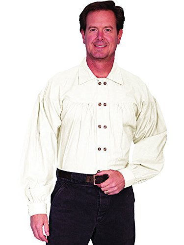 Old West Style Double Button Placket Shirt  AT vintagedancer.com