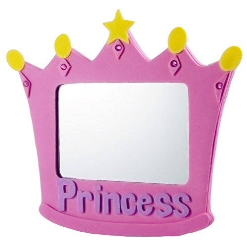 EMILYSTORES EVA Unbreakable Size 5 Inch Pink Princess Mirror For Child Kids - 1