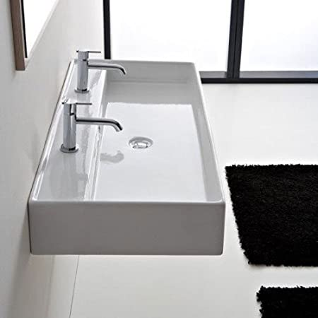 "Scarabeo Scarabeo 8031/R-120A-No Hole No Hole Bathroom Sink, 55"" L x 47.2"" W"