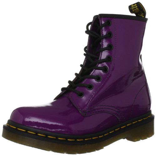 Dr. Martens Women's Patent 1460 Purple Lace Ups Boots 11821512 4 UK