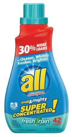 all Small & Mighty Laundry Detergent-Fresh Rain-32 oz