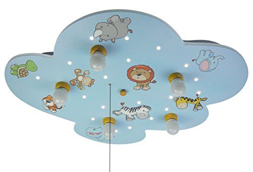 Niermann Standby Ceiling Lampe Wild Animals, Blue