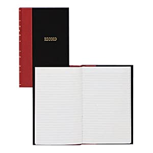 Wilson Jones Miniature Hardbound Account Book, 144 Pages, 7.88 x 5.25 Inch, 28 Lines per Page, Record Ruled, Black (WER20A)
