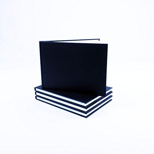 seawhite-black-cloth-cover-sketchbook-140gsm-landscape-a5