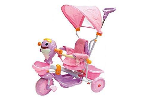 Triciclo per bambini Dolphin girl con cappottina regolabile