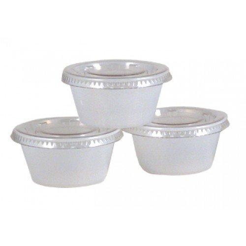 2 OZ Portion Jello Shot Plastic Cups with Lids Translucent/Clear, 200 Pcs Disposable (2 Oz Plastic Cups With Lids compare prices)