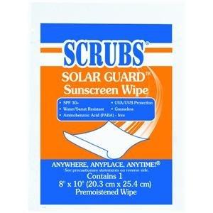 ITW Dymon 91201 SCRUBS Solar Guard Sunscreen Towel Wipes
