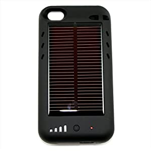 NeoTek Iphone 4 4G Battery External Solar Charger Case Power Juice Pack + Bonus Mini Cube USB Wall Charger for iPhone, iPod and iTouch