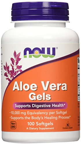 NOW Foods Aloe Vera Gels, 10000mg Softgels, 100-Count (Packaging May Vary)
