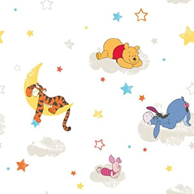 Graham And Brown Disney Winnie The Pooh Tigger Piglet Wallpaper 10m Roll Df70799 by FINE DECOR