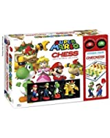 Super Mario Brothers Combo Chess and Checkers Board Game