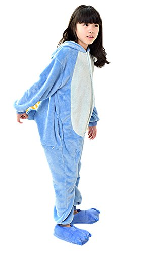 [Lovely animal pajamas,Cosplay Homewear Lounge children Wear pajamas and Lovely shoes (height:41-46inches,] (Spyro The Dragon Halloween Costume)