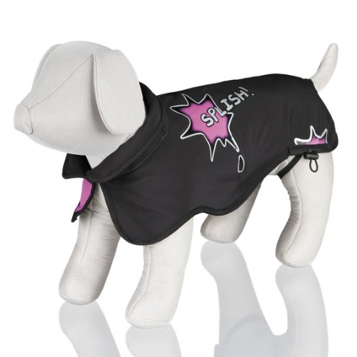 Trixie Mantel Avallon Splish Splash, Softshell, M: 45 cm, schwarz/pink