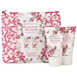 Heathcote & Ivory Sweet Pea & Honeysuckle Cosmetic Pouch With Shower Gel & Body Lotion