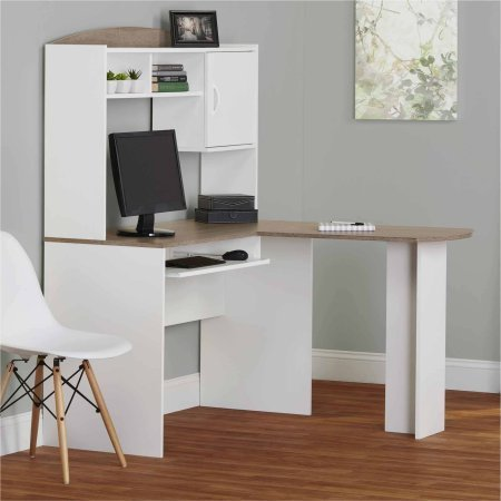 corner l shaped office desk with hutch white corner desk ideas