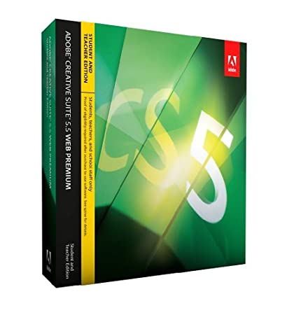 Adobe Creative Suite 5.5 Web Premium, Student & Teacher version (Mac)