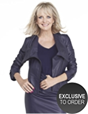 Twiggy for M&S Collection Leather Biker Jacket