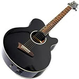 ashton dualler electro acoustic guitar with dual pick ups black musical instruments. Black Bedroom Furniture Sets. Home Design Ideas