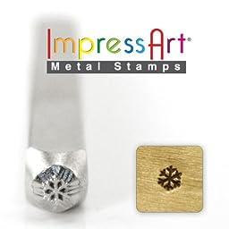ImpressArt- 3mm, Snow Flake Design Stamp