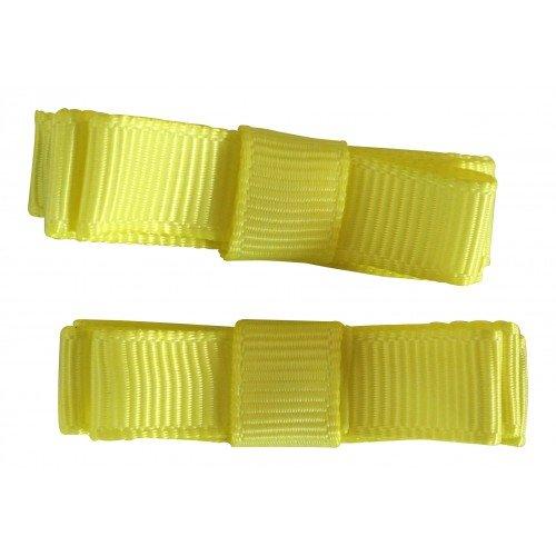 NeedyBee Yellow Double Deck Hair Clip/Hair Pinfor girls/Babies/Kids