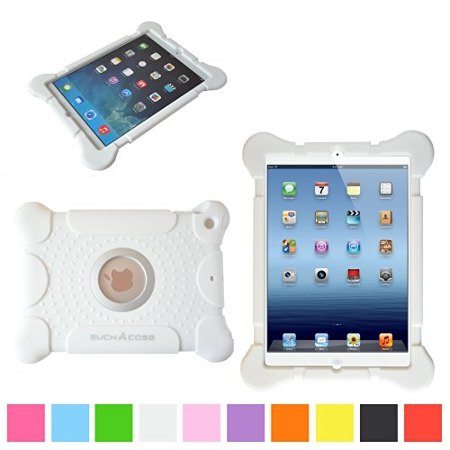 suchAcase Reader Series Kids Friendly Baby Safe Heavy Duty Soft Protective Case for Apple iPad 2, 3 & 4 (White) - 1