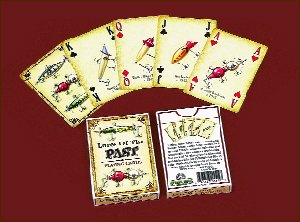 Fishing Lure Cards - Single Deck 12 Pc Display by River's Edge