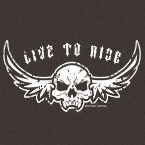 Buy Youth Sweatshirt : Live To Ride – Biker Skull with Wings – Distressed Print