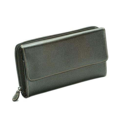 MUNDI большой жировой лоскут бумажник, черный,