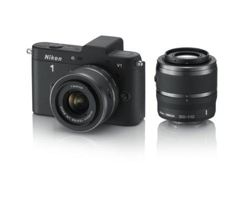 Nikon デジタル一眼カメラ Nikon 1 (ニコンワン) V1 (ブイワン) ダブルズームキット ブラック N1 V1WZ BK