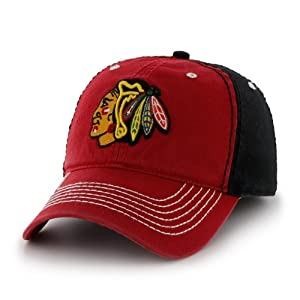 NHL Chicago Blackhawks Phase Fitted Cap, One Size, Black