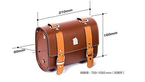 Comfortable Soft Vintage Bicycle Saddle or Handlebar Tools Bag 6
