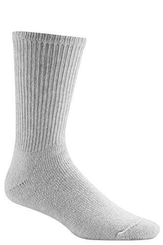 Wigwam Men's King Crew Athletic Socks, Sweatshirt Grey Lt., Large