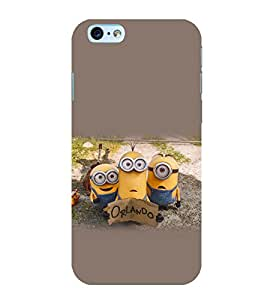 printtech Yellow Cartoon Funny Back Case Cover for Apple iPhone 6S