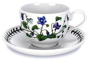 Portmeirion Botanic Garden Tea Cup and Saucer, Set of 6