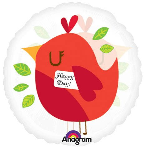 """18"""" Happy Day Bird Red Magicolor - 1"""