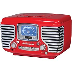 Crosley Radio Cr612-Re Corsair Cd Playr Red