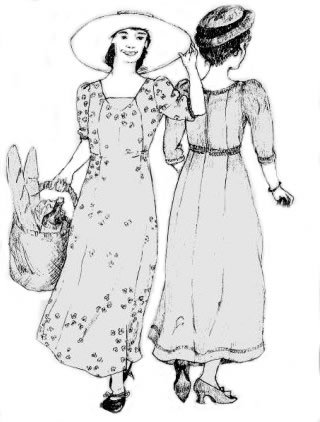 1890s-1905 Edwardian Gibson Girl Era Clothing Links 1909 Edwardian Dress Pattern                               $19.95 AT vintagedancer.com