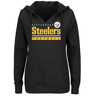 "Pittsburgh Steelers Women's Majestic NFL ""Determination"" Hooded Sweatshirt"