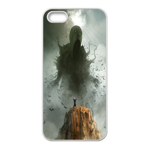 Case for IPhone 5,5S, Sleeping Giants, the Dark Slumber ,Morpheus Commission,cthulhu Case for IPhone 5,5S, Jumphigh White