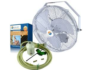 "Outdoor Misting Fan - 18"" Mist Cooling Fans Cool-Off"