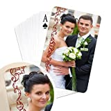 Personalized bridge size photo playing cards favors