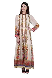Women's Stitched Rakhi Special Viscose Georgette Middle Slit Kurta (Size 40)