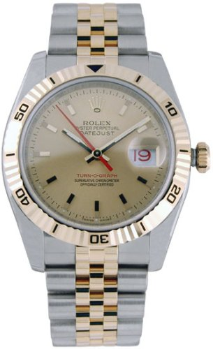 Buy Rolex Oyster Perpetual Datejust Two-Tone 18kt Yellow Gold and Steel Mens Watch 16234J
