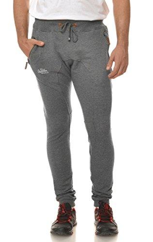 M.Conte Men Sweat Pants Uomo Jogging Pantaloni in Felpa Roberto grigio L