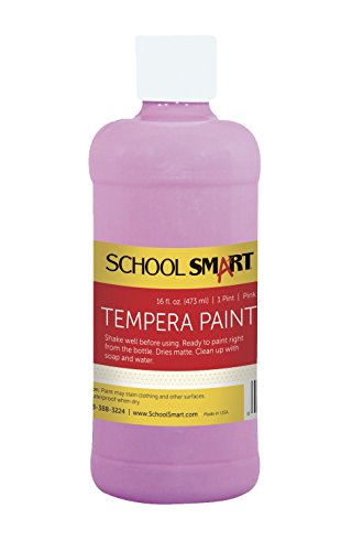 School Smart Tempera Paint - Pint - Pink - 1