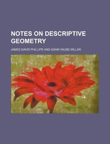Notes on descriptive geometry