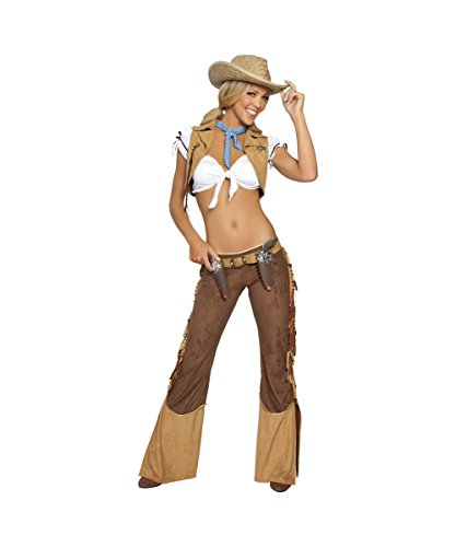 Western Sheriff Womens Sexy Cowgirl Ranch Halloween Costume